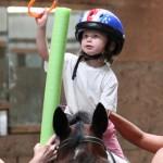 Child on horseback