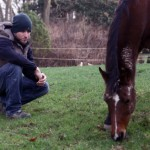 contemplative with horse